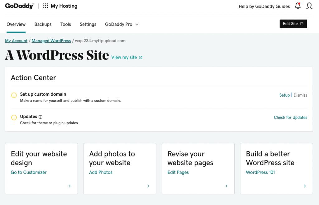 GoDaddy WordPress Web Hosting Overview | AnitaM