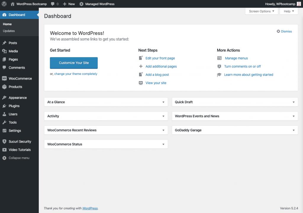 WordPress Dashboard | AnitaM