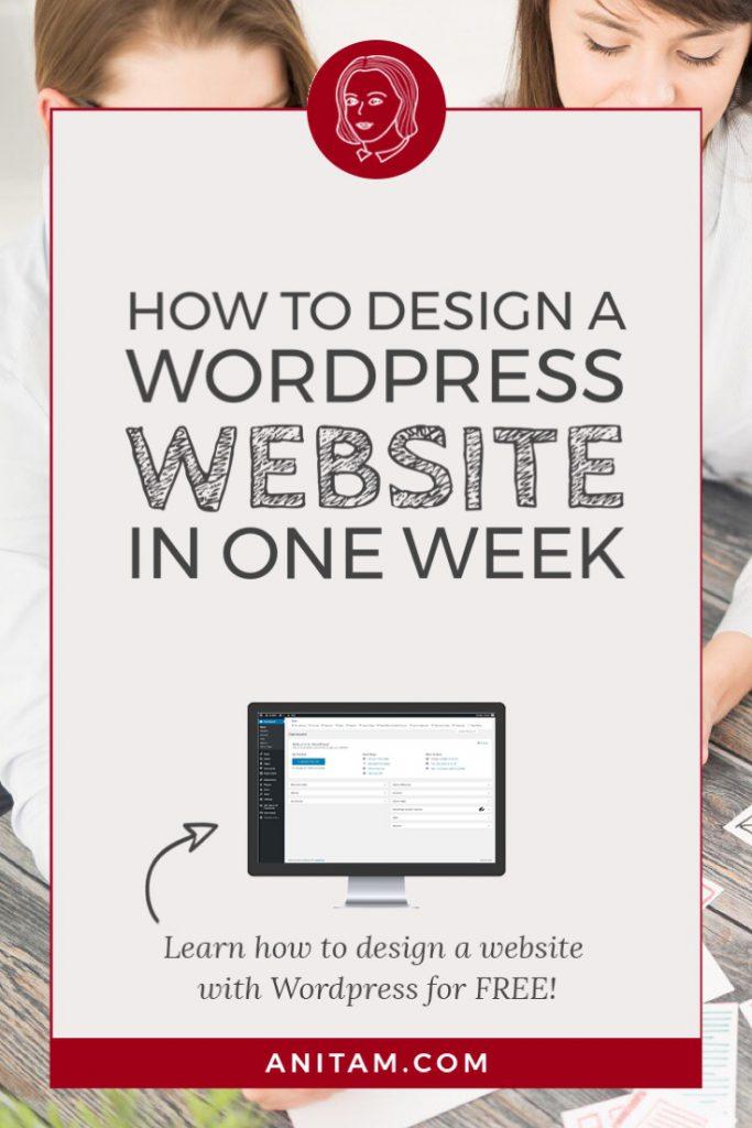 AnitaM | How to design a Wordpress website in one week
