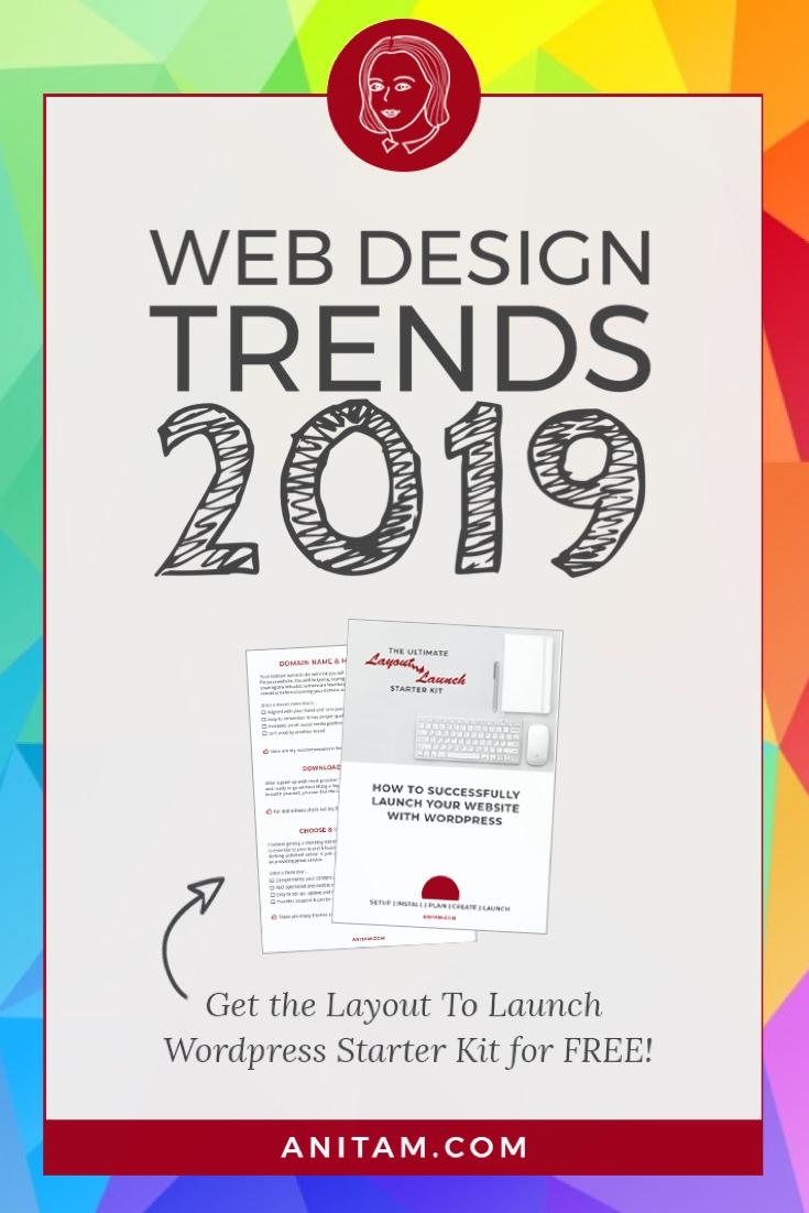 Web Design trends 2019 + WordPress Starter Kit | AnitaM