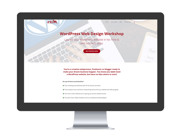 WordPress Web Design Workshop | AnitaM