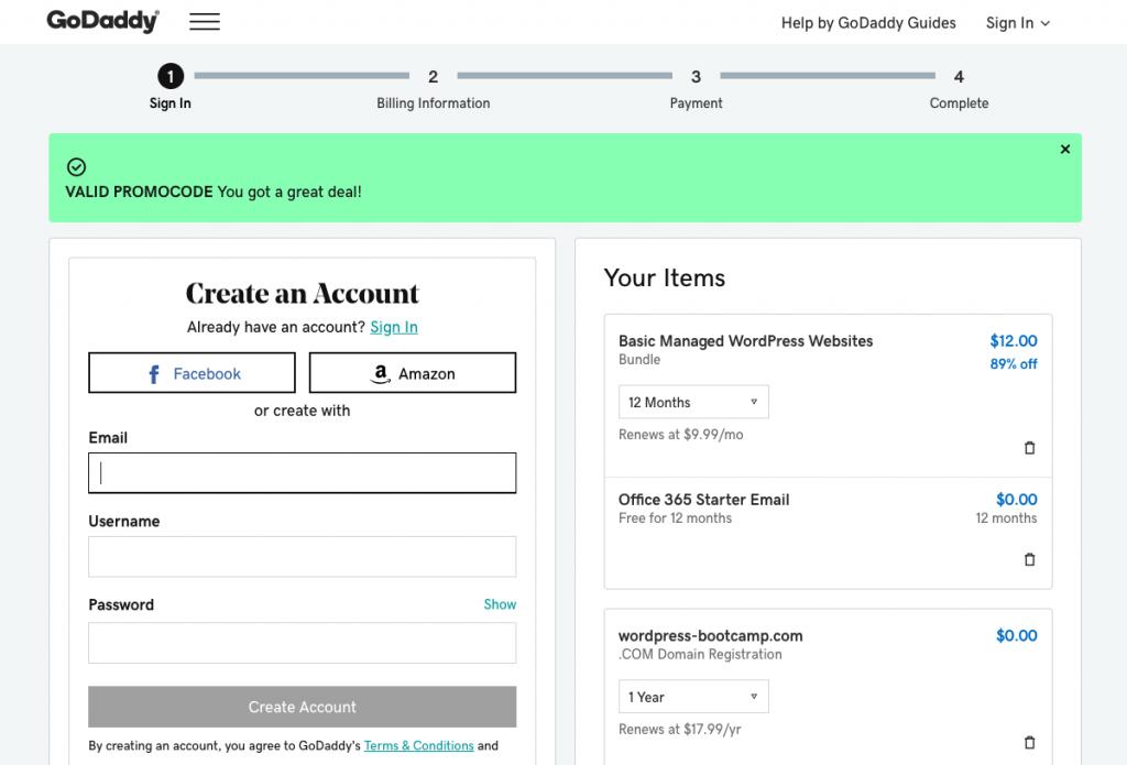 GoDaddy Checkout Page | AnitaM